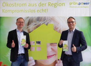 grün.power-Geschäftsführer, Matthias Roth und Josef Werum